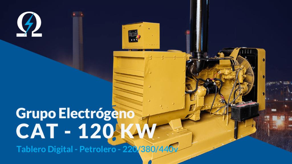 Grupo electrogeno Caterpillar 120 kw - Omega Electric